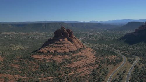 Aerial view of the Bell Rock