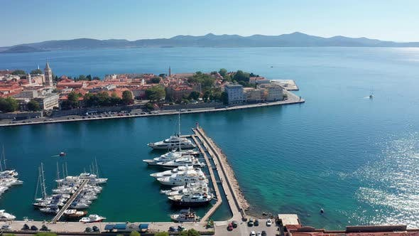 Thumbnail for Drone Footage Aerial View of Zadar Marina Croatia