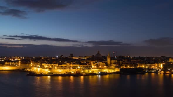Thumbnail for Morning Time Lapse of Valletta, Malta
