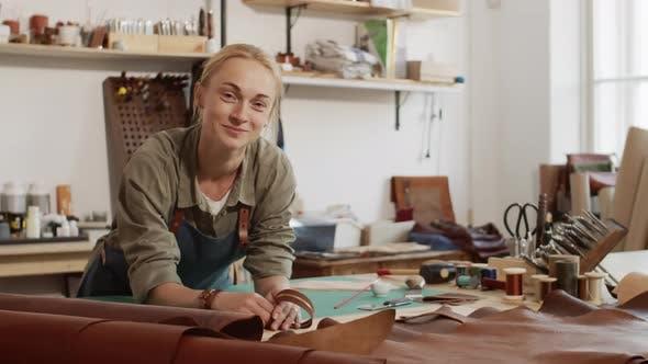 Craftswoman in Workshop