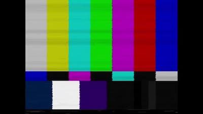 SMPTE Color Bars Broadcast Test Card / Test Pattern with Sine Wave Test Signal Tone