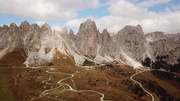 Thumbnail for Dolomites, Italy. Landscape at Passo Gardena