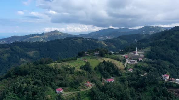 Thumbnail for Trabzon Village Mountains Forest And Cloud Shadows Aerial Hyperlapse 2