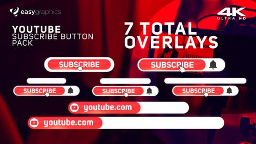 Modern Youtube Subscribe Reminder Pack
