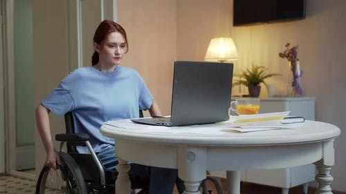 A Disabled Woman is Hard Working