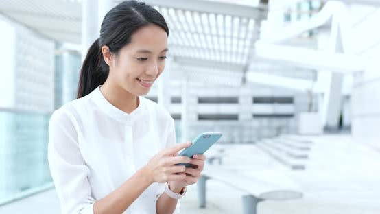 Thumbnail for Young woman use of smart phone