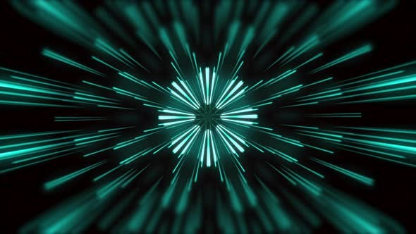 Motion graphic 4K seamless loop of flying into digital technologic tunnel.