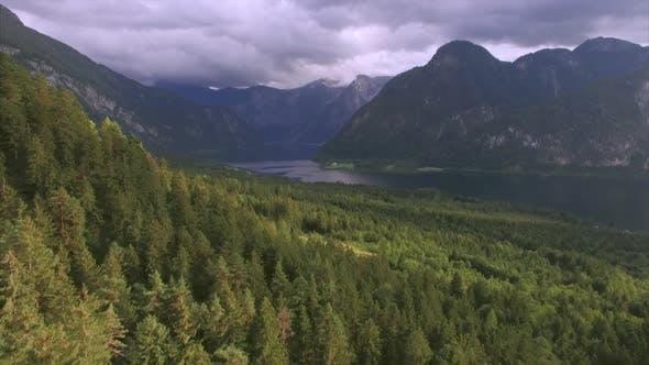 Hallstatt lake aerial