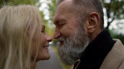 Portrait of Happy Couple Smiling Romantically