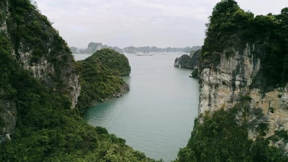 Thumbnail for Directly above view of Halong Bay in Vietnam