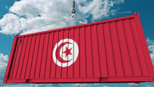 Thumbnail for Loading Container with Flag of Tunisia