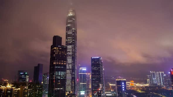 Thumbnail for Timelapse Large Skyscrapers of Futian District in Shenzhen