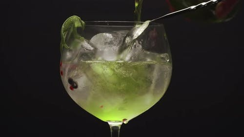Iced Gin Fizzy Cocktail