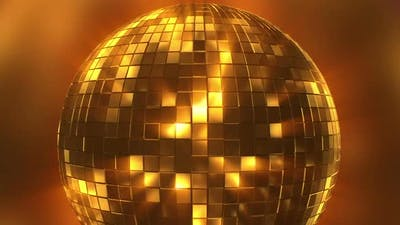 Golden Disco Ball Loop