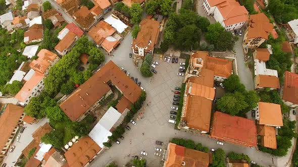 Thumbnail for Picturesque Aerial View of Small Signagi Town Located on Green Hills in Georgia
