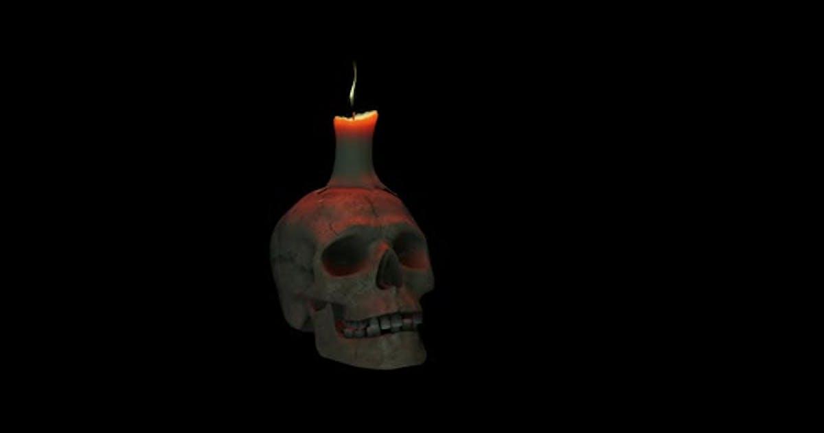 Burning Candle Skull