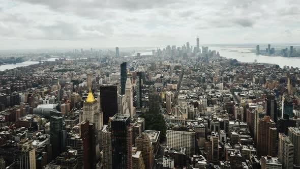 Zeitraffer Video des Geschäftsviertels Manhattan in New York