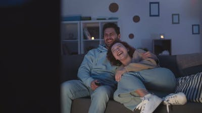 Couple Watching Comedy at Night