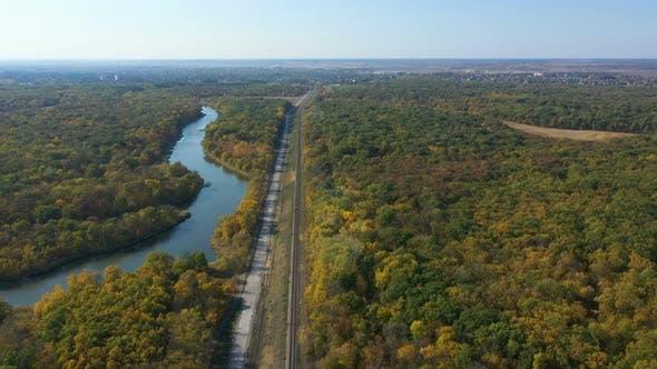 Railway Through The Autumn Forest 8