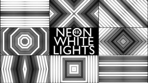 4k Neon White Lights