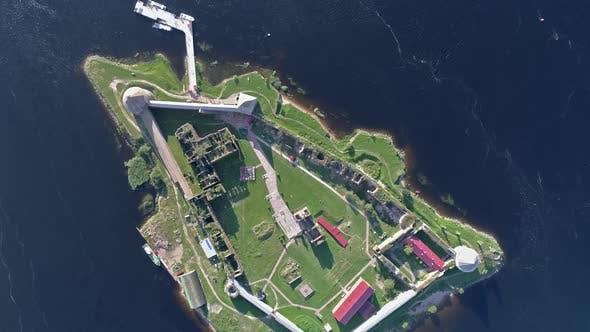 Thumbnail for Aerial View on Fortress Oreshek Leningrad Region