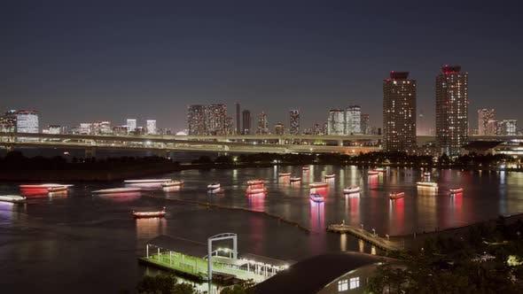 Thumbnail for Nachtzeitraffer Tokyo Japan