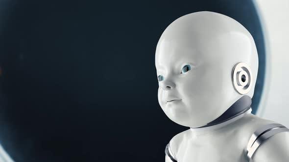 Thumbnail for Futuristic Humanoid Sci-fi Child