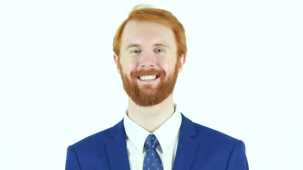 Cover Image for Smiling Satisfied Red Hair Beard Businessman