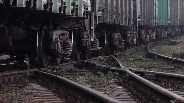 Thumbnail for Close Up Shot of Train Wheels Running