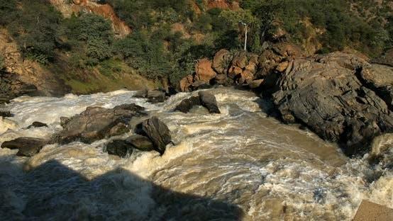 Ruacana Falls in Northern Namibia, Africa
