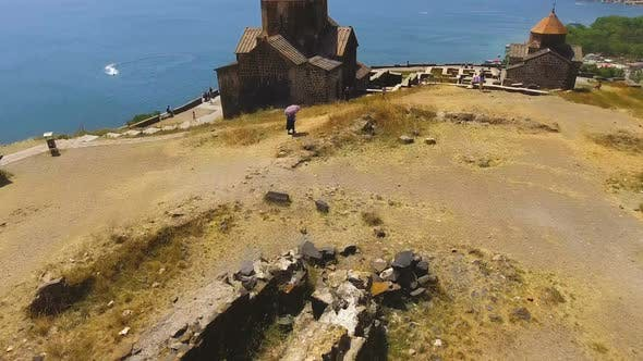 Thumbnail for Old Architecture in Armenia, Aerial View of Sevanavank Monastery Complex