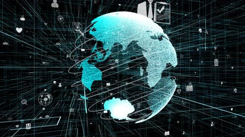 Global Online Internet Network and Internet of Things IOT Concept