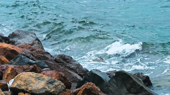 Cover Image for Powerful Waves Crushing on a Rocky Beach