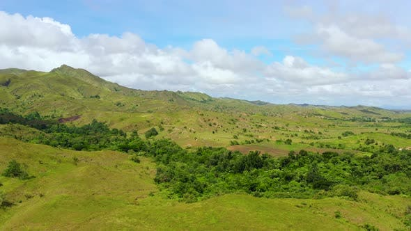 Thumbnail for Beautiful Landscape on the Island of Luzon, Aerial View. Green Hills and Mountains.