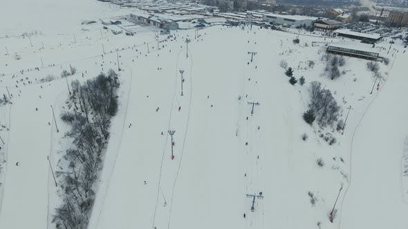 Thumbnail for Ski Resort in the Winter Season. Aerial View