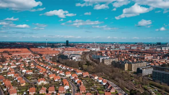 Cover Image for Drone Flight Over Copenhagen Suburbs