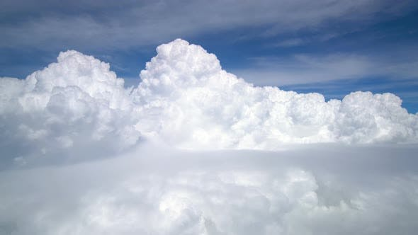 White Cloud From Airplane Window Passenger