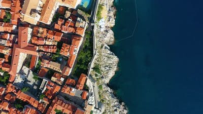 Dubrovnik, Croatia. Aerial view on old town. Vacation and adventure. Town and sea.