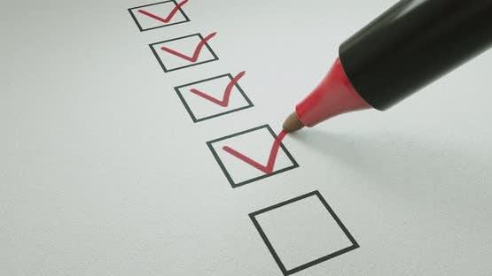 Pen ticking boxes survey vote exam loop