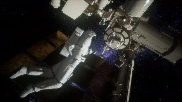 Thumbnail for Astronaut Outside the International Space Station on a Spacewalk