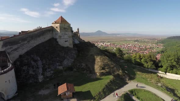 Thumbnail for Aerial view of Rasnov Citadel on top of a hill