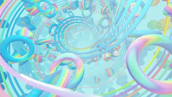 Thumbnail for Abstract Holographic Geometry With Radial Circles 06 HD