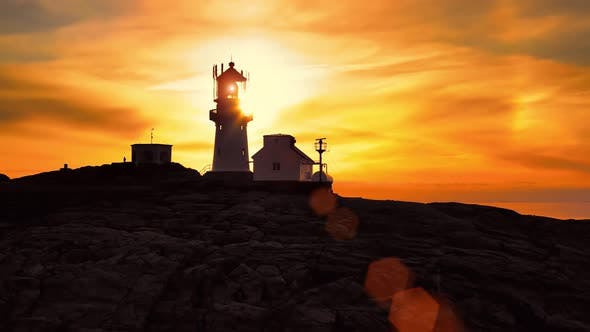 Thumbnail for Coastal Lighthouse. Lindesnes Lighthouse Is a Coastal Lighthouse at the Southernmost Tip of Norway.