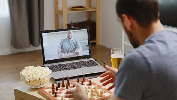 Thumbnail for Friends Playing Chess on Video Call