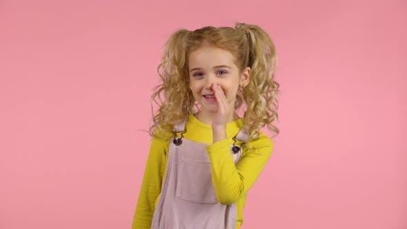 Thumbnail for Beautiful Little Female Is Telling a Secret