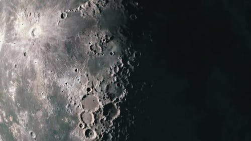 Surface of The Moon as the Terminator Sweeps the Surface Highlighting the Craters