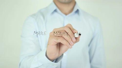 Make Money Online, Writing On Screen