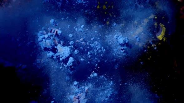Color Cloud Blue Powder