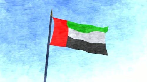 UAE Flag Stop Motion