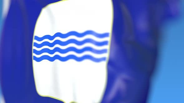 Thumbnail for Waving Flag of Basilicata a Region of Italy